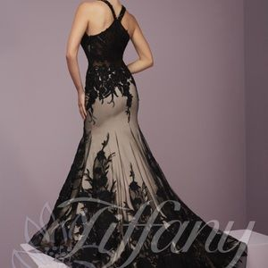 Tiffany Designs Dresses - Tiffany designs black prom dress
